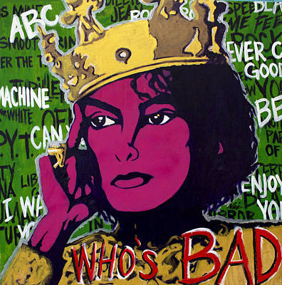 Michaeljackson Painting - King Of Pop by Nic The Artist