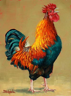 Painting - King Of The Barnyard by Margaret Stockdale