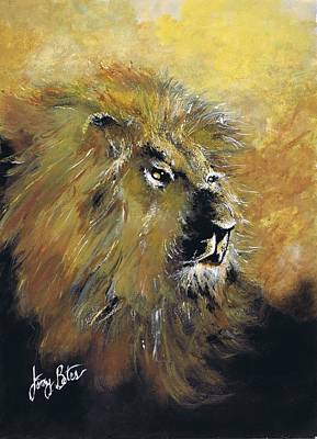 Painting - King Of The Beasts by Jerry Bates