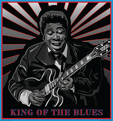 King Of The Blues Art Print by Larry Butterworth