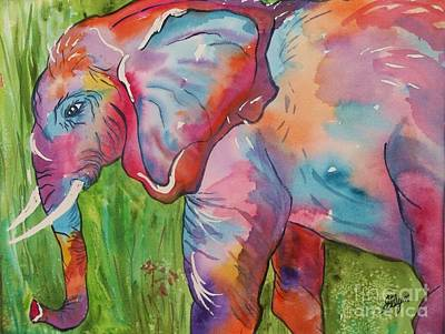 Painting - King Of The Elephants by Ellen Levinson