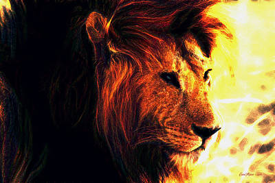 Manipulation Photograph - King Of The Jungle by EricaMaxine  Price