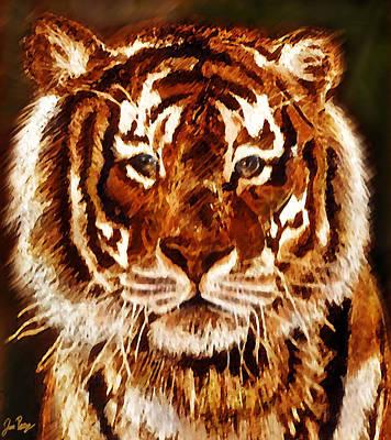 Jennifer Page Mixed Media - King Of The Jungle by Jennifer Page