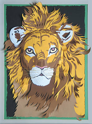 King Of The Jungle Art Print by John Hebb