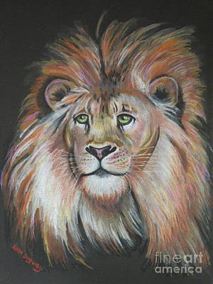 Drawing - King Of The Jungle by Lora Duguay