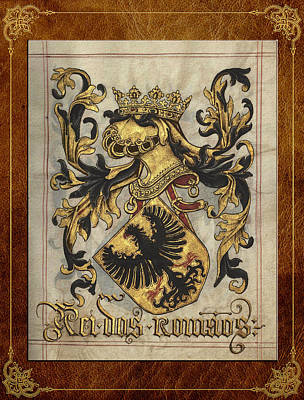 Deutsch Digital Art - King Of The Romans Medieval Coat Of Arms  by Serge Averbukh