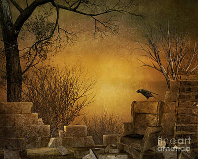 Bare Trees Digital Art - King Of The Ruins by Bedros Awak