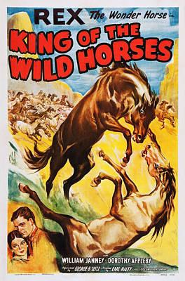 King Of The Wild Horses, Us Poster Art Art Print by Everett