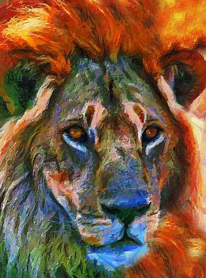 Africa Mixed Media - King Of The Wilderness by Georgiana Romanovna