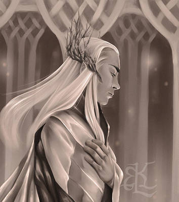 Jrr Digital Art - King Of The Woodland Realm by Lydia Kinsey