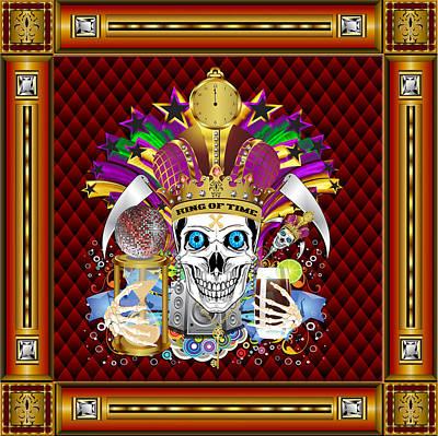 St. Charles Digital Art - King Of Time Mardi Gras Vector Sample by Bill Campitelle