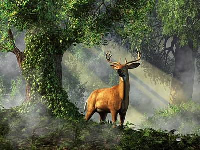 King Of The Woods Art Print by Daniel Eskridge