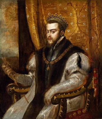 Cincinnati Painting - King Philip II Of Spain by Titian