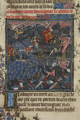 King Philip IIi Fights With Turbulent Bar Print by British Library