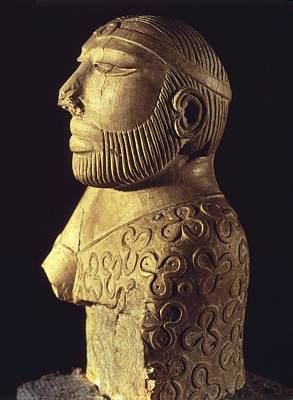 Statue Portrait Photograph - King-priest. Ca. 2000 Bc. Limestone by Everett