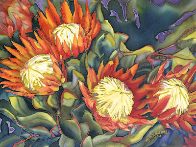 Painting - King Protea by Artimis Alcyone