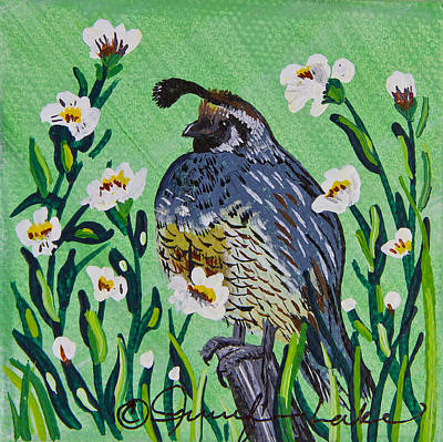 Painting - King Quail In Miniature by Jennifer Lake