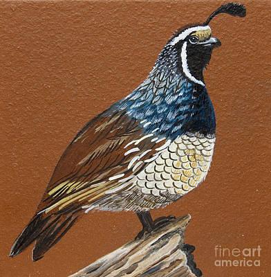 Painting - King Quail by Jennifer Lake