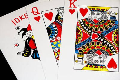 Photograph - King Queen Joker by Gunter Nezhoda