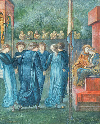 Dance Party Photograph - King Renes Wedding, 1870 Oil On Canvas by Sir Edward Coley Burne-Jones