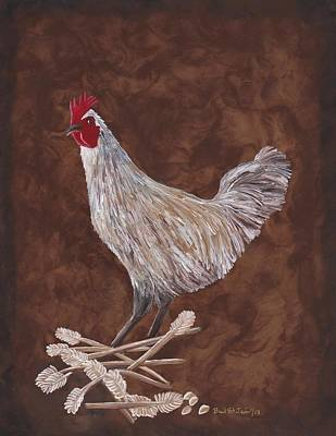 Painting - King Richard The Rooster by Barbara St Jean