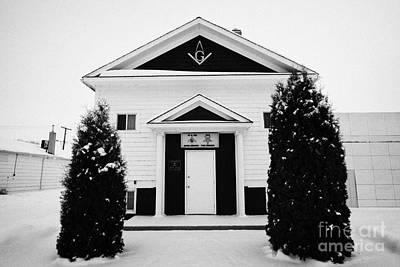 king solomon masonic lodge Kamsack Saskatchewan Canada Print by Joe Fox
