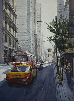 Painting - King Street 01 by Helal Uddin