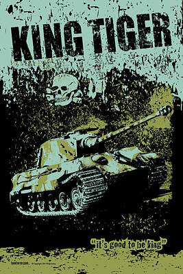 King Tiger 334 Print by Philip Arena