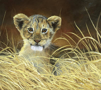 Lion Painting - King To Be by Lucie Bilodeau