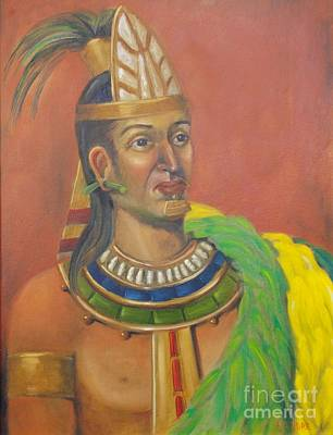 Painting - King Topiltzin by Lilibeth Andre