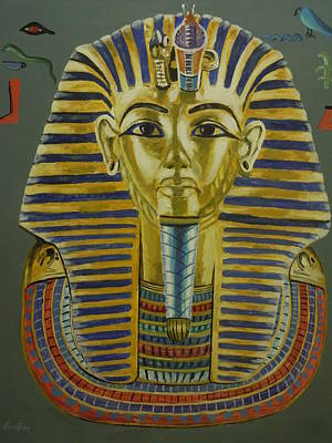 Painting - King Tut's Mask by James Guentner