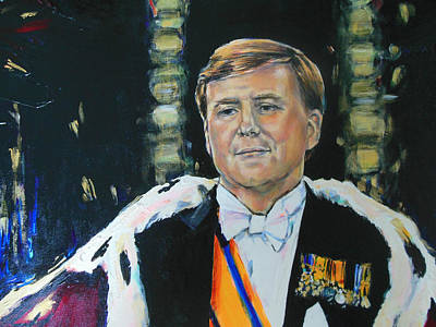 Nederland Painting - King Willem Alexander by Lucia Hoogervorst