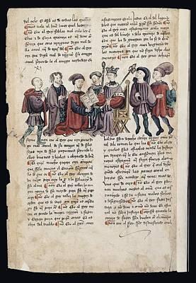 Kingdok Of Castile 13th C.. Libro De Art Print