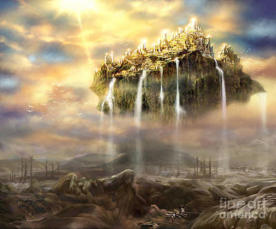 Prophetic Art Wall Art - Digital Art - Kingdom Come by Tamer and Cindy Elsharouni