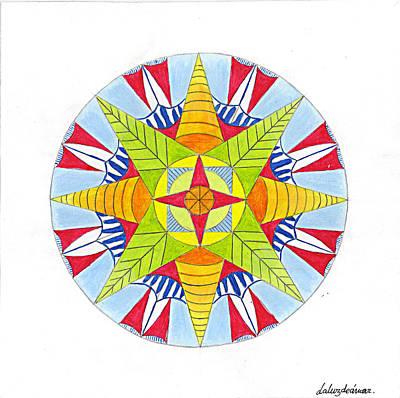 Kingdom Mandala Art Print by Silvia Justo Fernandez