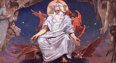 Staff Painting - Kingdom Of God by Viktor Mikhaylovich Vasnetsov