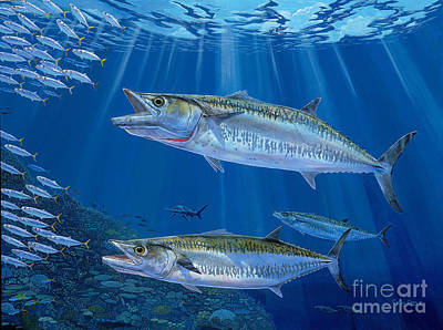 Kingfish Reef Art Print by Carey Chen