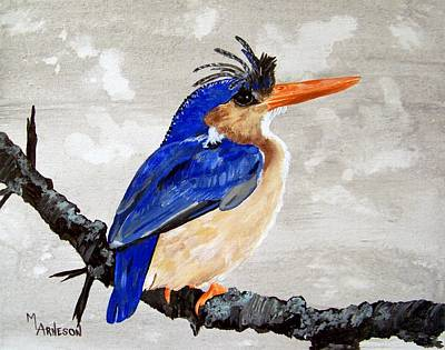 Painting - Kingfisher by Mary Arneson