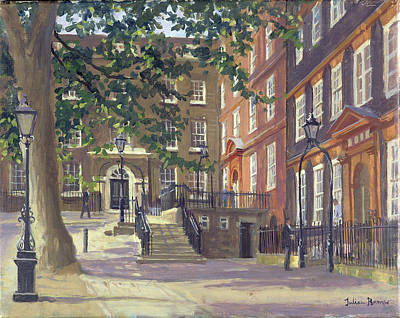 Barristers Photograph - Kings Bench Walk, Inner Temple Oil On Canvas by Julian Barrow
