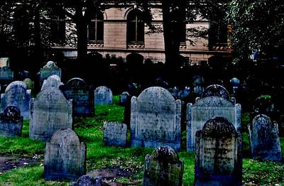 Photograph - King's Chapel Burial Ground by Benjamin Yeager