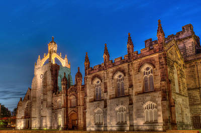 Photograph - King's College At Night by Veli Bariskan