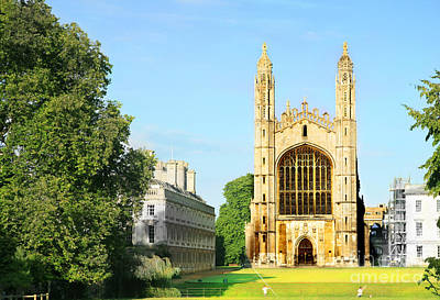Photograph - King's College Chapel by Eden Baed
