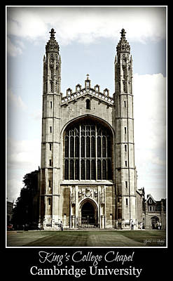 King's College Chapel - Poster Art Print by Stephen Stookey