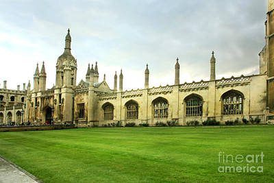 Photograph - King's College Facade by Eden Baed
