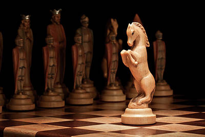 Chess Photograph - King's Court II by Tom Mc Nemar
