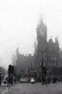 City Scape Digital Art - Kings Cross St Pancras by Steve K