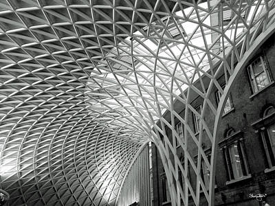 Photograph - Kings Cross Station London- Black And White by Shanna Hyatt