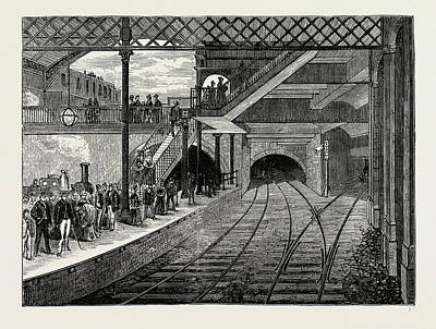 London Tube Drawing - Kings Cross Underground Station In 1868 by Litz Collection