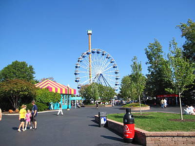 Kings Dominion - Drop Tower - 12122 Art Print by DC Photographer
