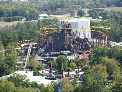 Volcano Photograph - Kings Dominion - Volcano - 12122 by DC Photographer